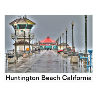 Pilier la 'Californie de Huntington Beach Cartes Postales