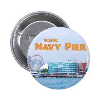 Pilier pittoresque de marine - Chicago l'Illinois Badges