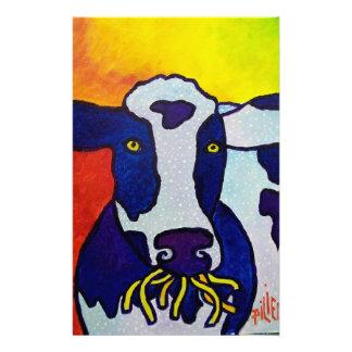 Piliero de la vache wow papier à lettre personnalisable