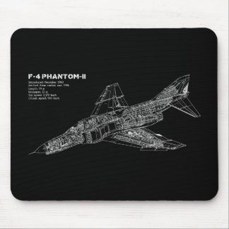 Pilote fantôme d'avion de chasse (avion tapis de souris