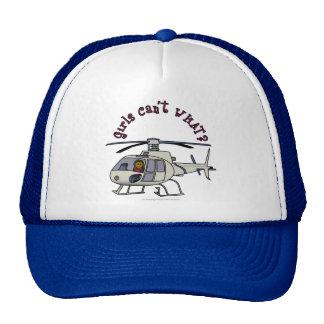Pilote foncé d'hélicoptère casquette