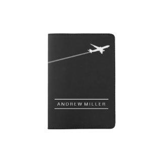 Piloter loin/avion/pilote personnalisé protège-passeport