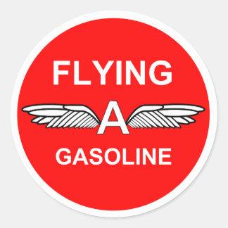 Piloter une essence sticker rond