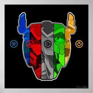 Pilotes de Voltron | dans la tête de Voltron Posters