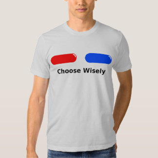 Pilule rouge de bleu de pilule t-shirt