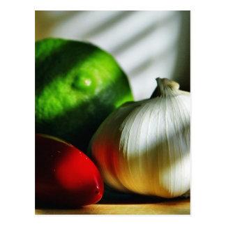 Piment de poivrons de piments de chaux d'ampoules carte postale