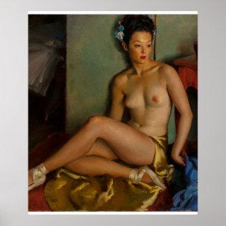 Pin 1946 de ballerine vers le haut d'art posters