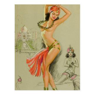 Pin Arabe de danseur vers le haut d'art Carte Postale