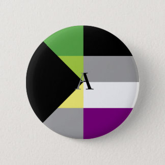 Pin asexuel d'as de Demiromantic Demi Badge