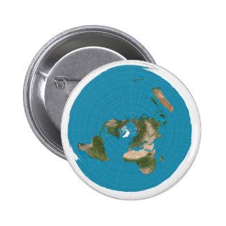 Pin azimutal de bouton de carte de projection des badges