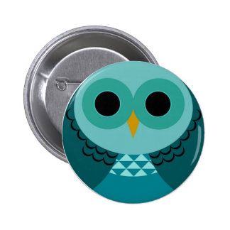 Pin bleu de hibou badges