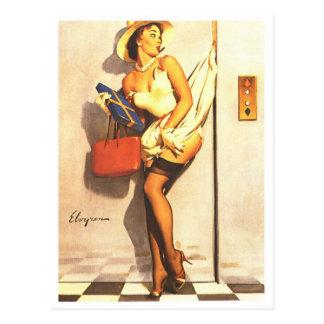 Pin d'ascenseur carte postale