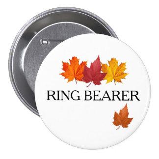 Pin de bouton de porteur d'alliances d'automne - badges