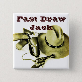 Pin de bouton de tir d'action de cowboy alias badges