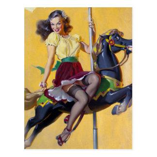 Pin de carrousel carte postale