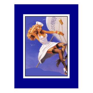 Pin de carte postale vers le haut copie vintage
