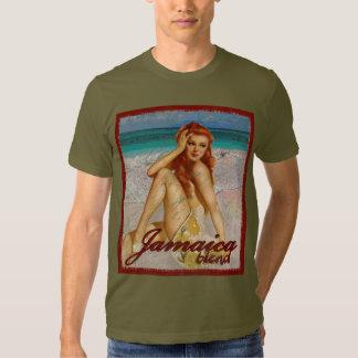 Pin de cru affligé par mélange de la Jamaïque vers T-shirts