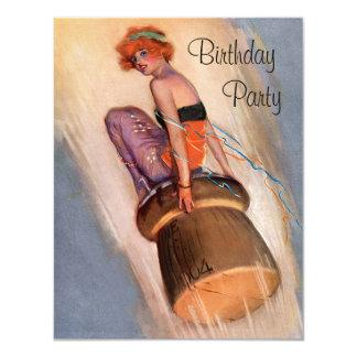 Pin de cru vers le haut de fille et d'anniversaire carton d'invitation 10,79 cm x 13,97 cm