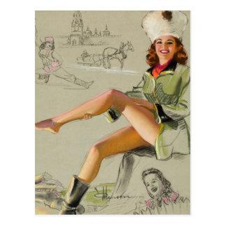 Pin de la Russie vers le haut d'art Carte Postale
