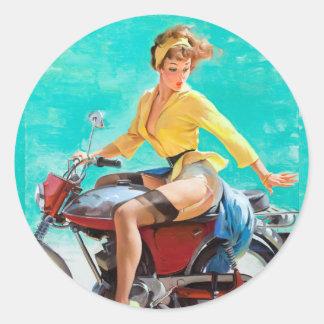 Pin de moto sticker rond