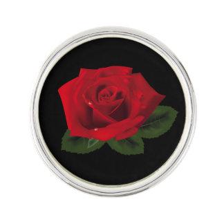 Pin de revers de festival de rose rouge de Mlle Pin's