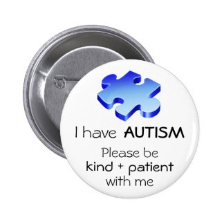 Pin de revers de sensibilisation sur l'autisme - b badge rond 5 cm