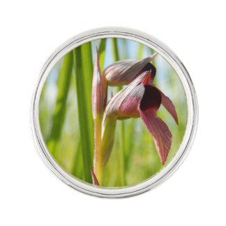 Pin de revers d'orchidée de langue épinglette