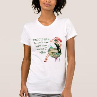 Pin de sarcasme vers le haut de fille t-shirt