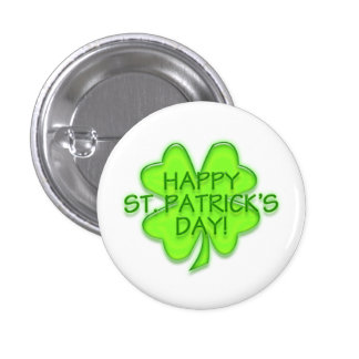 Pin de shamrock de vert du jour de St Patrick Badge