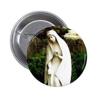 Pin de statue de jardin de Vierge Marie Badge Rond 5 Cm