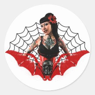 Pin de tatouage sticker rond