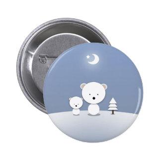 Pin de vacances d'ours blancs de Kawaii mignon ! Pin's Avec Agrafe