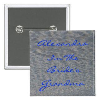 Pin d'identificateur de nom de plage de grand-mama badge