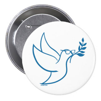 Pin d'oiseau de paix de Bernie Badge
