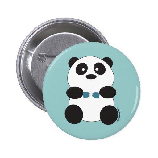Pin d'ours panda badge
