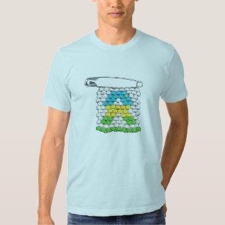 Pin du Rwanda de SIDA de VISAGE T-shirts