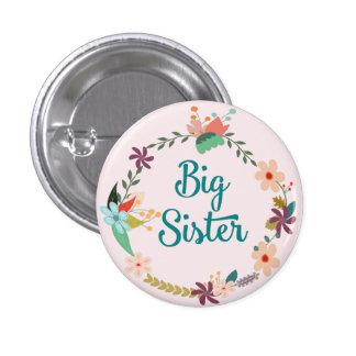 Pin floral de guirlande de grande soeur badge