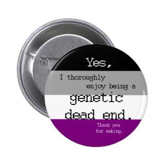 Pin génétique asexuel de cul-de-sac pin's