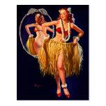 Pin hawaïen de danse polynésienne vintage de Gil E Cartes Postales