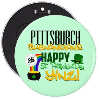Pin méga de bouton de Yinz du jour de St Patrick Badge