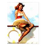 Pin nautique de marin vintage de Gil Elvgren vers  Cartes Postales