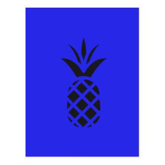 Pin noir Apple dans le bleu Carte Postale