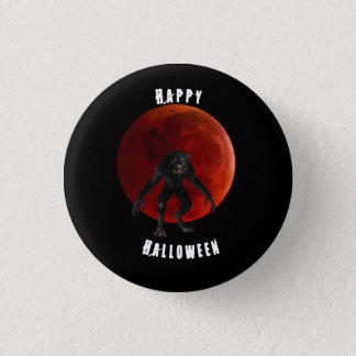 Pin noir de Halloween de lune rouge sang de Pin's