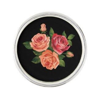 Pin orange de revers de festival de roses de Mlle Épinglette