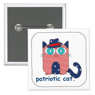 Pin patriotique de bouton de chat pin's