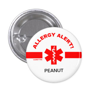 Pin personnalisable d'alerte d'allergie pin's