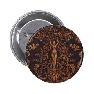 Pin rococo de bouton de déesse pin's