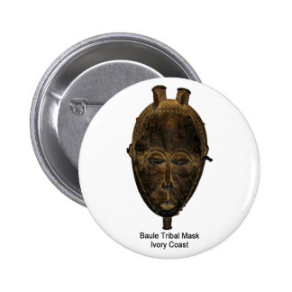 Pin tribal de masque de Baule Badge Rond 5 Cm
