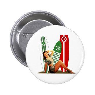 Pin-up Basque France Badge