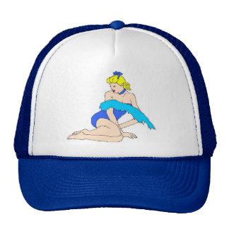 pin up bleu casquettes